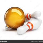 Bowling Christmas ball on a white background 3d Illustrations
